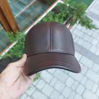 Бейсболка коричневая классическая 59 размер