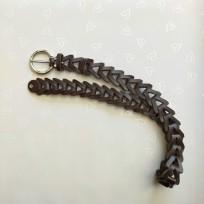 Ремень шоколадный плетеный