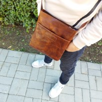 Сумка-планшетка коричневая