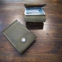Зажим для денег с отделением для мелочи и отделением под карту оливка