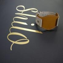 Ремешок комбинированный цвет желтый с бежевым