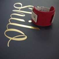 Ремешок комбинированный цвет красный с бежевым