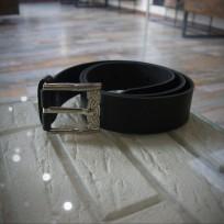 Ремень классический черный без строчки 45 мм