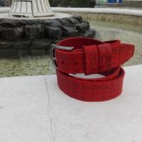 Ремень красный под каймана 40 мм